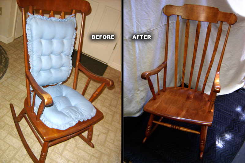 Etonnant ... Rocking Chair Refinished ...