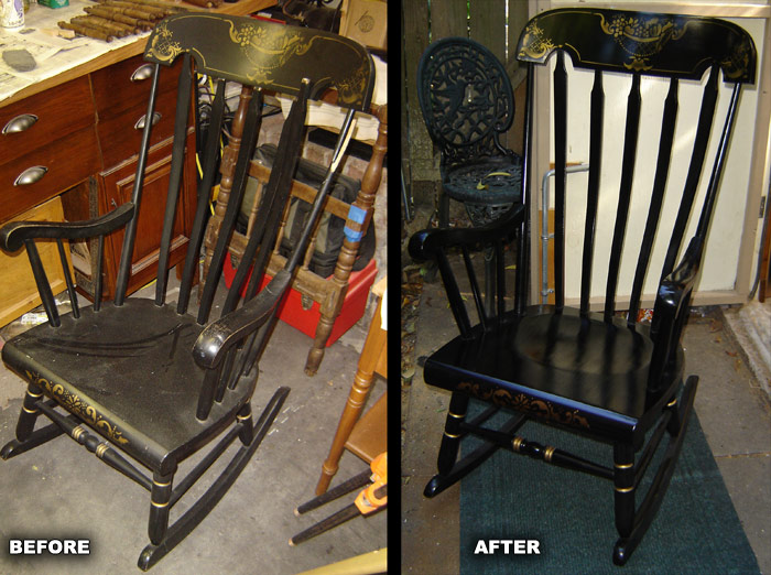 Ethan Allen Rocking Chair Refinished And Repaired
