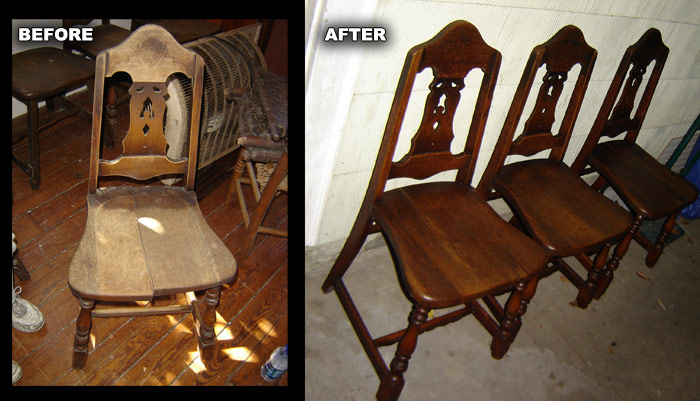 These chairs all had split seats and loose joints everywhere. After ...